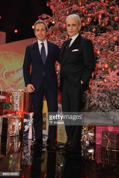 Albert Carreras and Jose Carreras attend the 23th Annual Jose Carreras Gala on December 14 2017 in Munich Germany