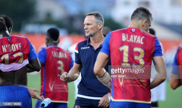 Albert Cartier coach of Gazelec during the Ligue 2 match between Gazelec Ajaccio and Paris FC at Stade Ange Casanova on July 27 2018 in Ajaccio France