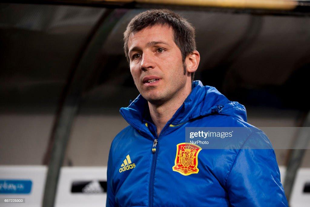 Albert Celades during the friendly match of national teams U21 of Spain vs. Denmark in stadium Nueva Condomina, Murcia, SPAIN. March, 23rd 2017 .