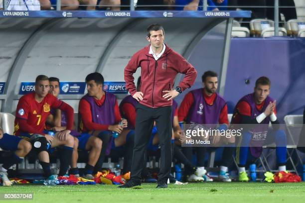 Albert Celades during the UEFA European Under21 match between Spain and Italy on June 27 2017 in Krakow Poland