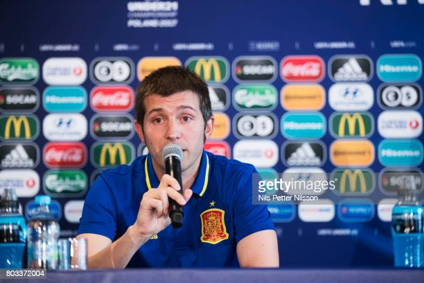 Albert Celades head coach of Spain during the Spain U21 national team press conference at Krakow Stadium on June 29 2017 in Krakow Poland