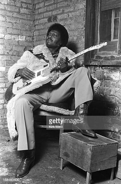Albert Collins photo shoot at Studio West Chicago Illinois December 14 1980