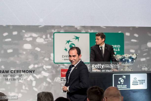 Albert Costa during the draw ceremony of the Davis Cup finals.