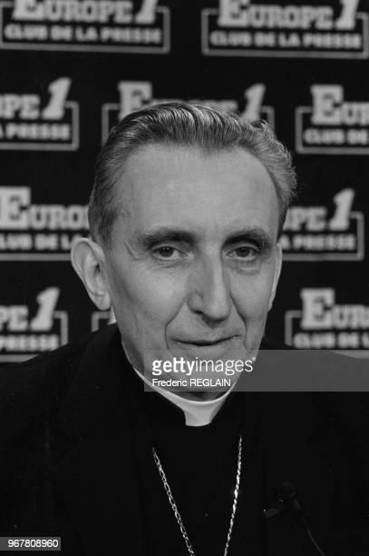 Albert De Courtray invité de la radio Europe 1 à Paris le 26 mai 1985 France