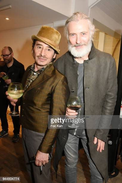DJ Albert de Paname and Dan Marie Rouyer attend the 'Bel RP' 10th Anniversary at Atelier Sevigne on April 10 2018 in Paris France