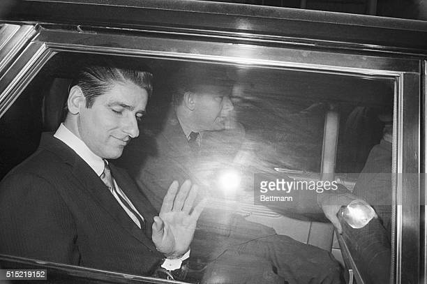 Albert DeSalvo former Bridgewater State Hospital mental patient and selfconfessed Boston Strangler smiles as he is driven away from the courthouse...
