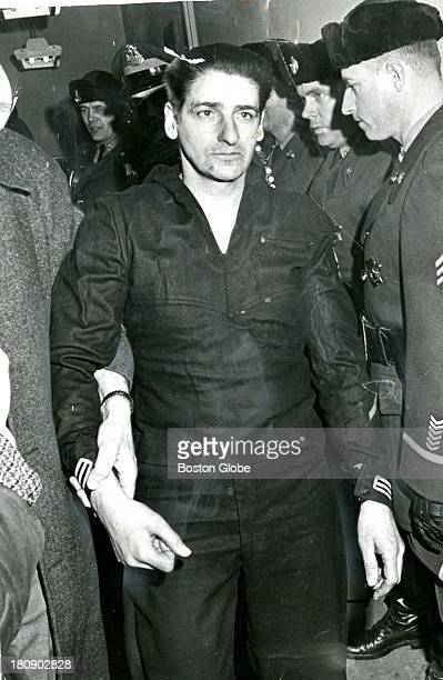 Albert DeSalvo is brought into Lynn headquarters Feb 25 1967 He and two other inmates escaped from Bridgewater State Prison triggering a full scale...