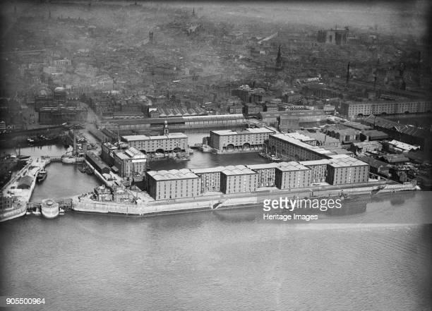 Albert Dock and the Canning Half Tide Dock Liverpool Merseyside 1920 Artist Aerofilms