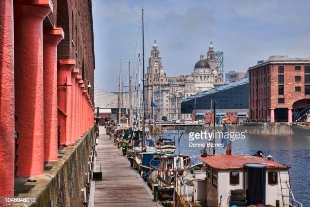 albert dock area, city centre, liverpool,  merseyside, england - merseyside stock pictures, royalty-free photos & images