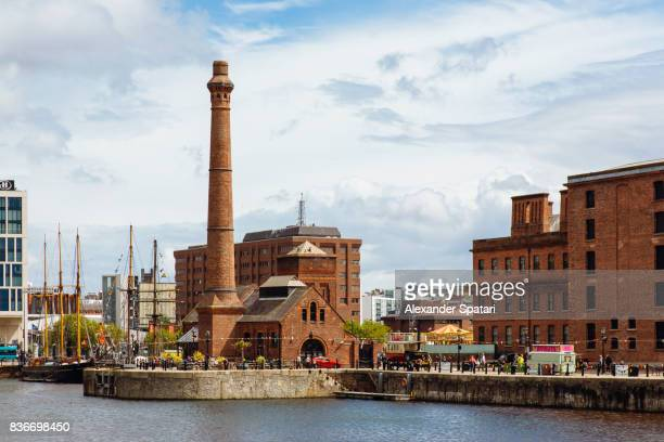 albert dock in liverpool, england, uk - merseyside stock pictures, royalty-free photos & images