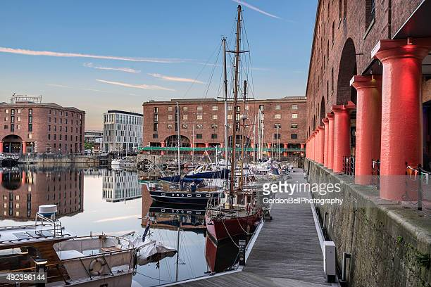The regenerated Albert Dock on Liverpool's waterside