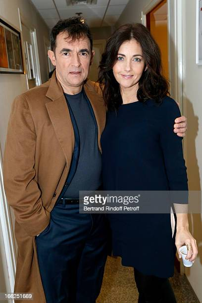 Albert Dupontel and Cristiana Reali attend 'Vivement Dimanche' French TV Show for the 80th anniversary of JeanPaul Belmondo at Pavillon Gabriel on...