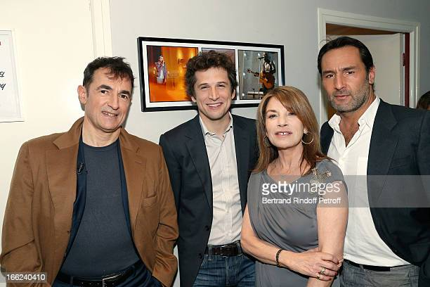 Albert Dupontel Guillaume Canet Nicole Calfan and Gilles Lellouche attend 'Vivement Dimanche' French TV Show for the 80th anniversary of JeanPaul...