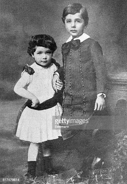 Albert Einstein at approximately 8 years of age with his sister Maja Photograph circa 1884 BPA2# 1394