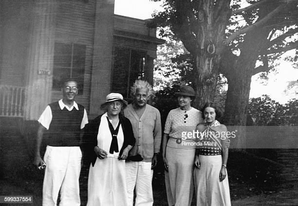 Albert Einstein gathers with Robert Oppenheimer wife Elsa Margarita Konenkov and his daughter Margot Einstein carried on a romantic relationship with...