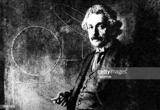Albert Einstein German born US physicist who formulated the theories of relatvity An etching by Ferdinand Schmutzer