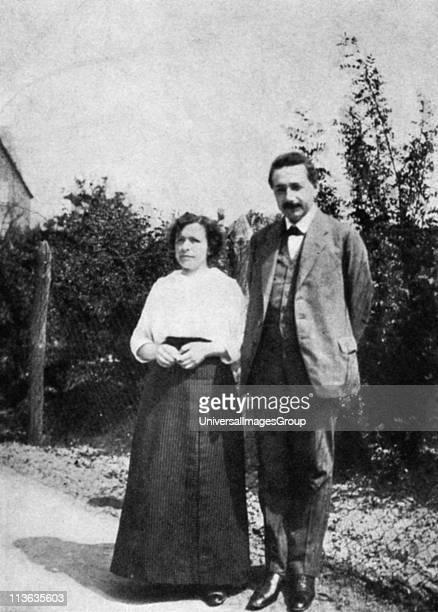 Albert Einstein German-Swiss mathematician with his first wife Mileva c1905