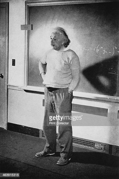 Albert Einstein GermanSwissAmerican mathematician and physicist 1940 Einstein in his study at Institute of Advanced Study Princeton New Jersey USA...