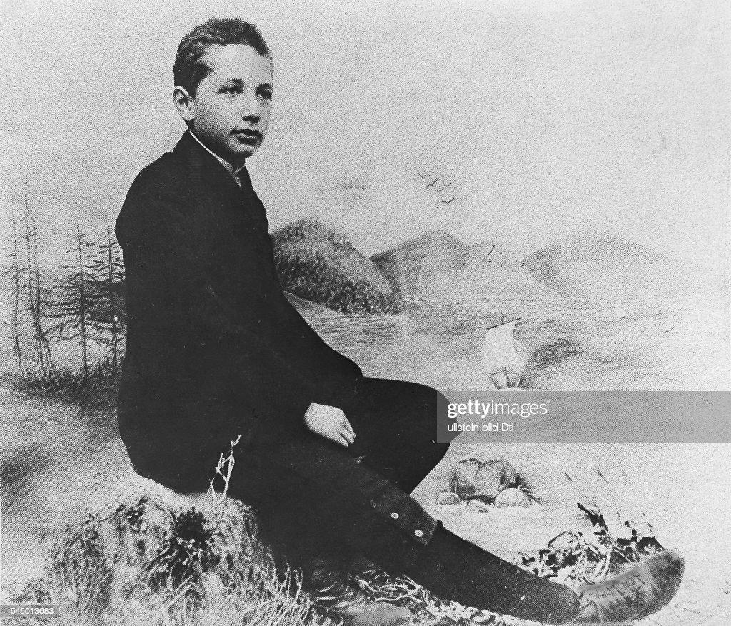 Albert Einstein - Physicist, Germany, USA - as fourteen years old boy - about 1902 : News Photo