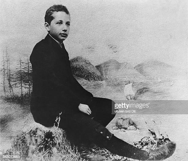 Albert Einstein Physicist Germany USA as fourteen years old boy about 1902