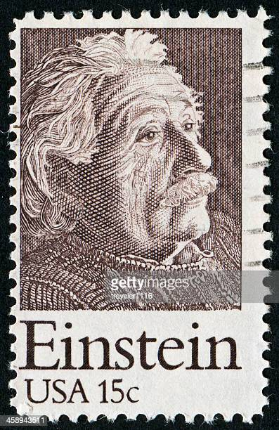 albert einstein stamp - albert einstein stock pictures, royalty-free photos & images