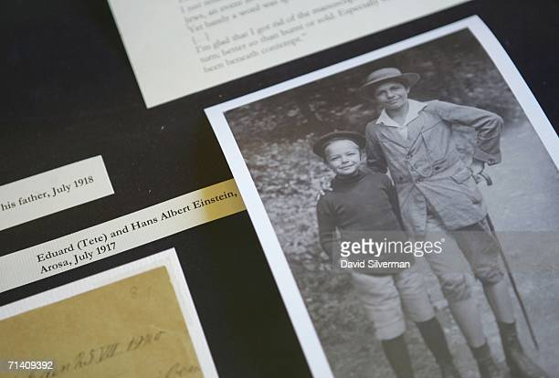 Albert Einstein's two sons Eduard and Hans Albert are seen in this July 1917 photograph made public by the Albert Einstein Archives at the Hebrew...