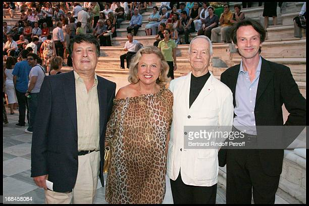 Albert Emsalem Carole Weisweller Gerard Davoust Bruno Finck at Nana Mouskouri's Farewell Concert At Odeon Herodes Atticus In Athens