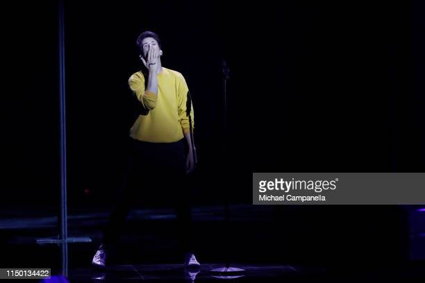 Albert Černý of Lake Malawi representing Czech Republic performs live on stage during the 64th annual Eurovision Song Contest held at Tel Aviv...