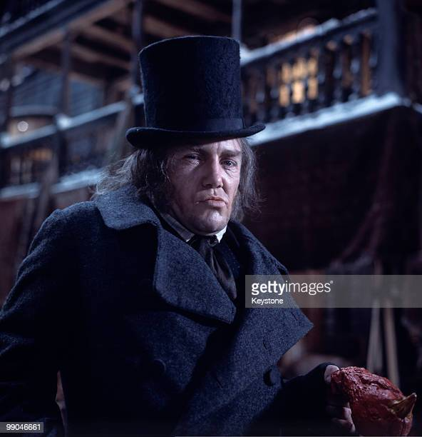 Albert Finney actor pictured as Ebenezer Scrooge in the film musical 'Scrooge' adapted from the novel by Charles Dickens 16 January 1970