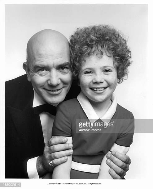 Albert Finney and Aileen Quinn in publicity portrait for the film 'Annie' 1982