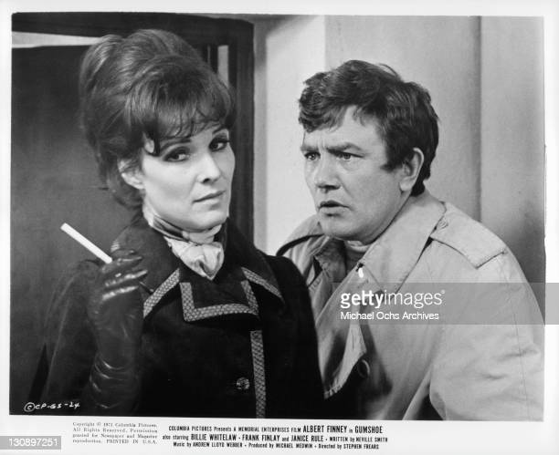 Albert Finney and Janice Rule in a scene from the film 'Gumshoe' 1971