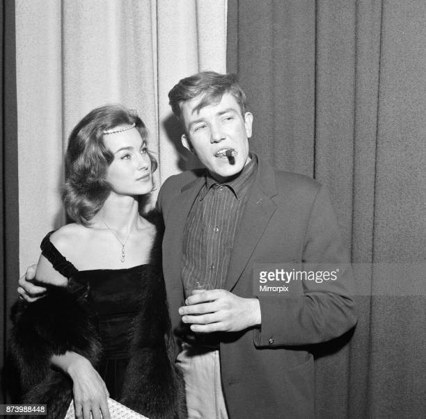 Albert Finney and Shirley Anne Field at the premiere of their new film 'Saturday Night and Sunday Morning' 26th October 1960