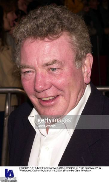 Albert Finney arrives at the premiere of Erin Brockovich in Westwood California March 14 2000