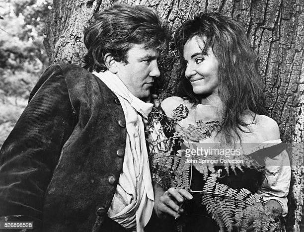 Albert Finney as Tom Jones and Diane Cilento as Molly Seagrim in the 1963 film Tom Jones