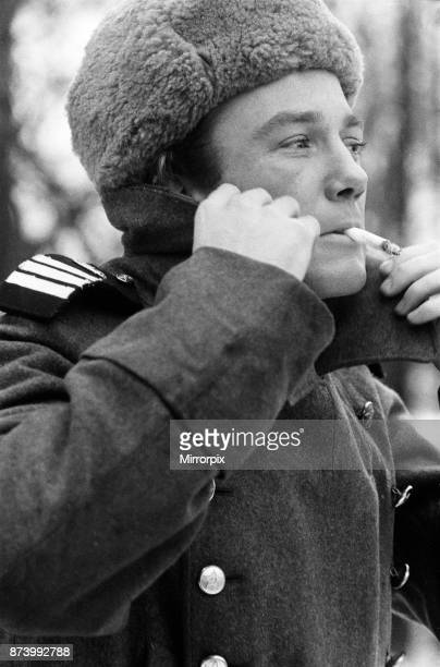Albert Finney on the set of 'The Victors' at Shepperton Studios Albert Finney is donating his salary to the actors orphanage In the film he plays the...
