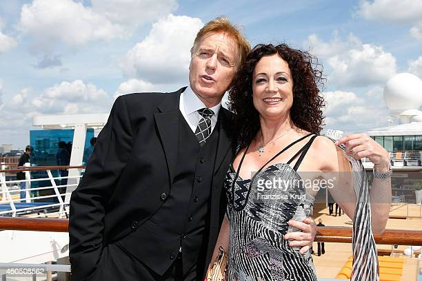 Albert Fortell and Barbara Wussow attend the christening of the ship 'Mein Schiff 3' on June 12 2014 in Hamburg Germany