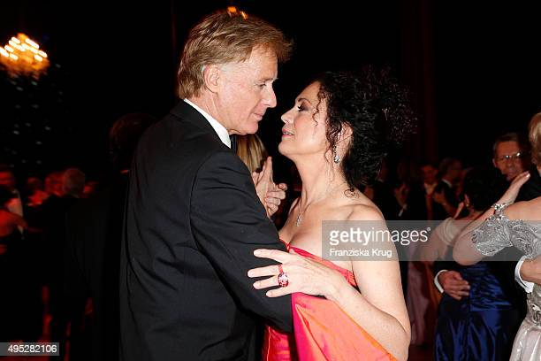 Albert Fortell and Barbara Wussow attend the Leipzig Opera Ball 2015 on October 31 2015 in Leipzig Germany