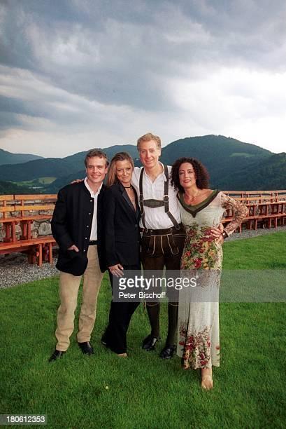 Albert Fortell Ehefrau Barbara Wussow Schwager Sascha Alexander Wussow dessen Lebensgefährtin Gabi Greileder VorabFeier zum 50Geburtstag von Albert...