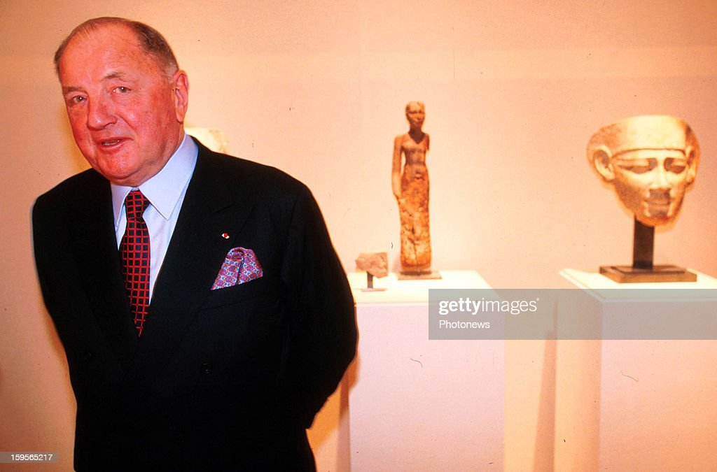 Albert Frere, the richest man in Belgium poses on April 2, 1999 in Brussels,Belgium.