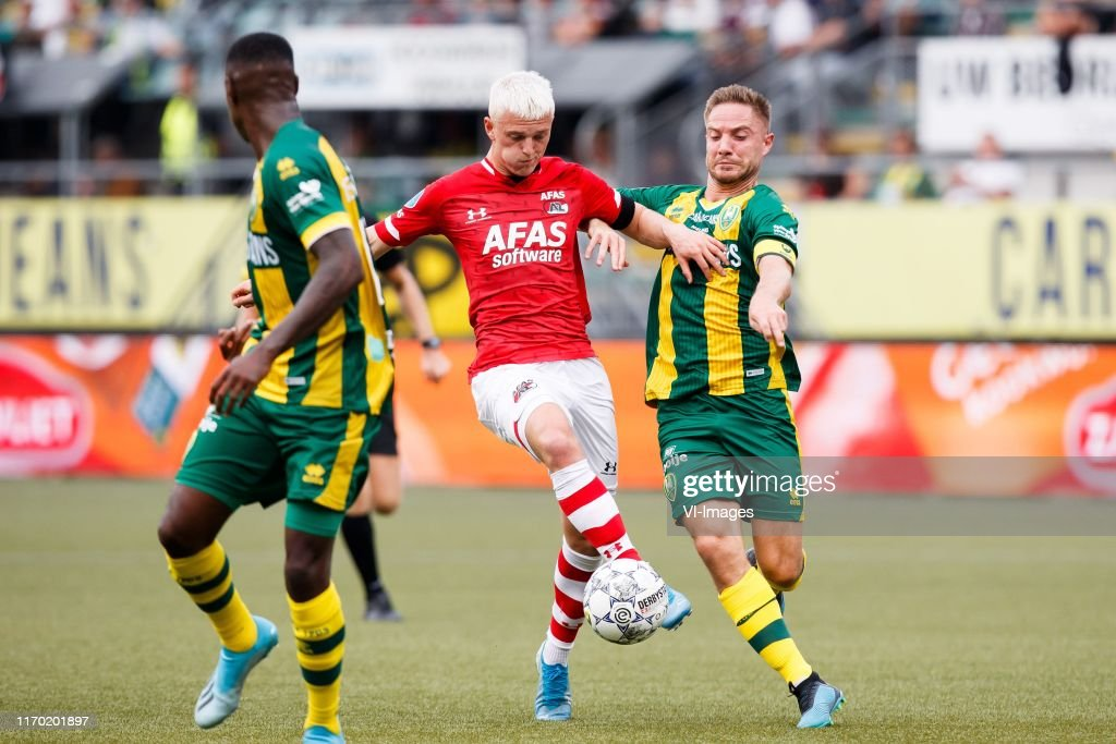 Albert Gudmundsson Of Az Aaron Meijers Of Ado Den Haag During The News Photo Getty Images