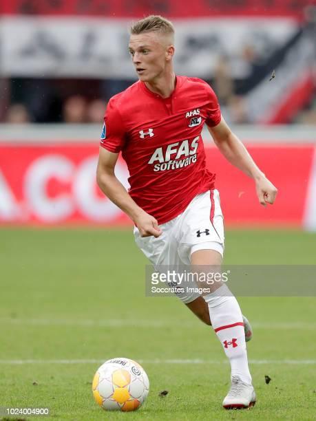 Albert Gudmundsson of AZ Alkmaar during the Dutch Eredivisie match between AZ Alkmaar v Vitesse at the AFAS Stadium on August 26 2018 in Alkmaar...