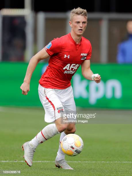 Albert Gudmundsson of AZ Alkmaar during the Dutch Eredivisie match between AZ Alkmaar v Feyenoord at the AFAS Stadium on September 16 2018 in Alkmaar...