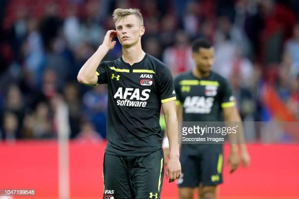 Albert Gudmundsson of AZ Alkmaar during the Dutch Eredivisie match between Ajax v AZ Alkmaar at the Johan Cruijff Arena on October 7 2018 in...