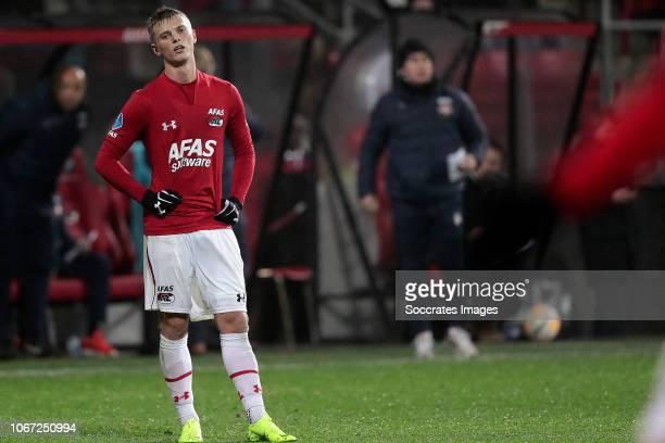 Albert Gudmundsson of AZ Alkmaar during the Dutch Eredivisie match between AZ Alkmaar v Willem II at the AFAS Stadium on December 1 2018 in Alkmaar...