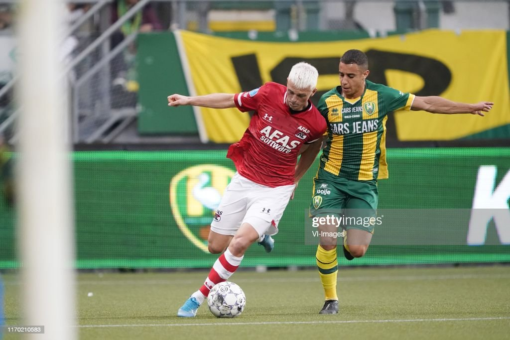 Albert Gudmundsson Of Az Bilal Ould Chikh Of Ado Den Haag During The News Photo Getty Images