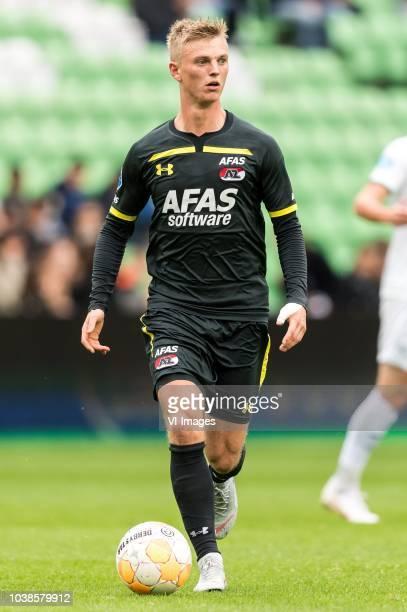 Albert Gudmundsson of AZ during the Dutch Eredivisie match between FC Groningen and AZ Alkmaar at Hitachi Capital Mobility stadium on September 23...