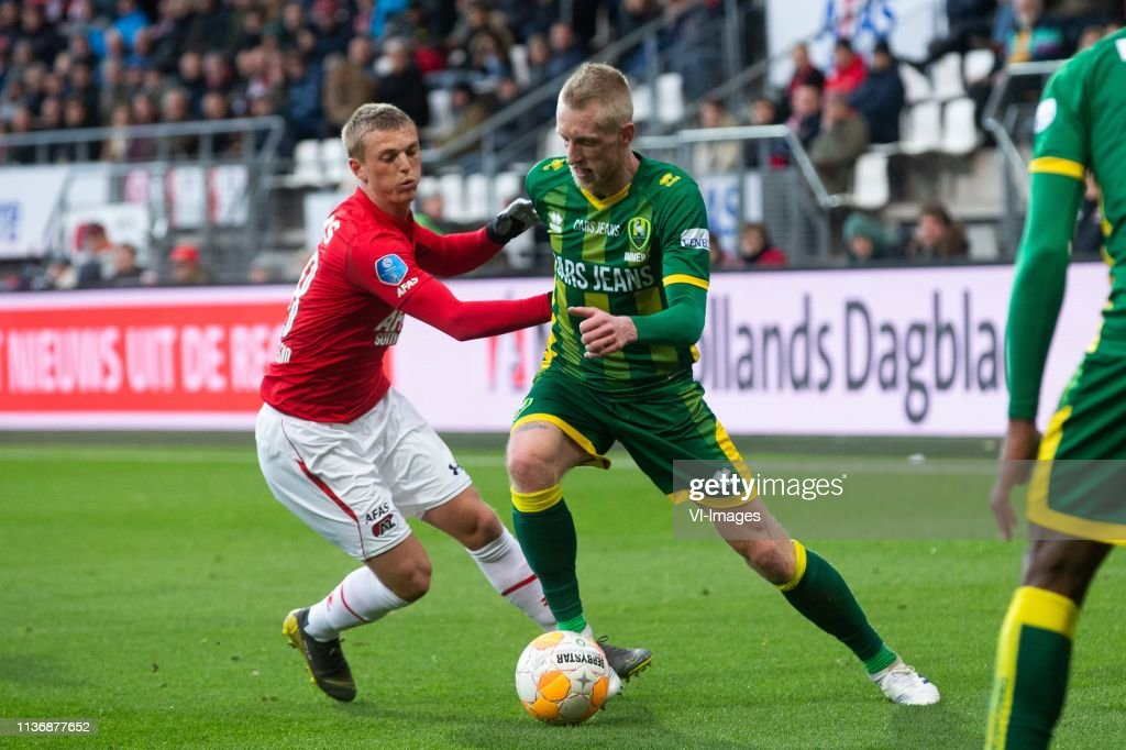 Albert Gudmundsson Of Az Lex Immers Of Ado Den Haag During The Dutch News Photo Getty Images