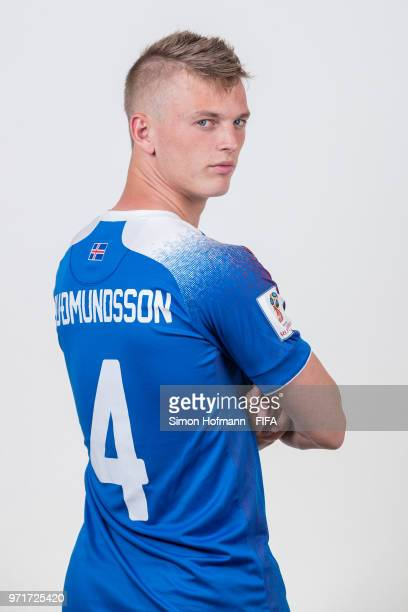 Albert Gudmundsson of Iceland poses during the official FIFA World Cup 2018 portrait session at Resort Centre Nadezhda on June 11 2018 in Gelendzhik...