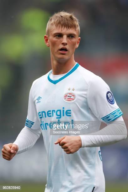 Albert Gudmundsson of PSV during the Dutch Eredivisie match between ADO Den Haag v PSV at the Cars Jeans Stadium on April 29 2018 in Den Haag...