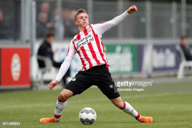 Albert Gudmundsson of PSV U23 during the Dutch Jupiler League match between PSV U23 v FC Oss at the De Herdgang on April 2 2018 in Eindhoven...